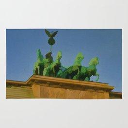 BERLIN Travel Art Poster Brandenberg Gate Rug