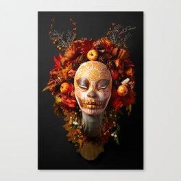 Pumpkin Harvest Muertita Canvas Print