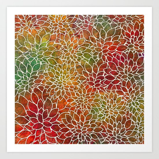 Floral Abstract 15 Art Print
