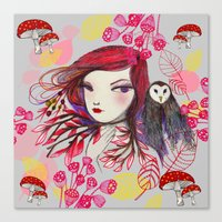 Red Owl Gal Canvas Print