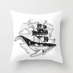 WHALESHIP Throw Pillow