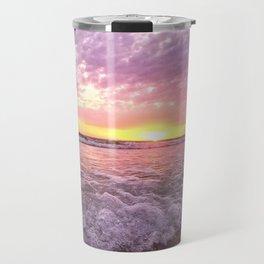 a tropical sunset Travel Mug