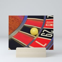 roulette wheel detail Mini Art Print