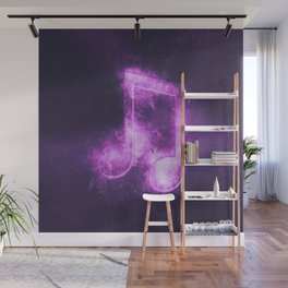 Beamed Eight music note symbol. Abstract night sky background Wall Mural