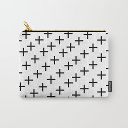 Positive Mood- black and white Carry-All Pouch