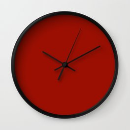 Lipstick Red, Solid Red Wall Clock