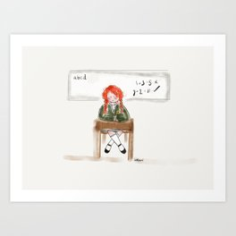 The School Lesson Art Print