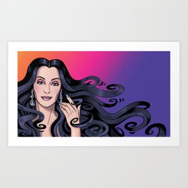 Cher's Hair Art Print