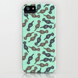Happy Cute Otters iPhone Case