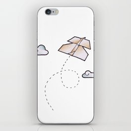 paperplane iPhone Skin