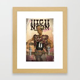 High Noon Hibachi Framed Art Print