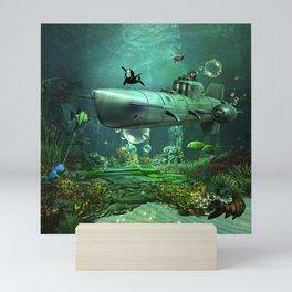 Awesome submarine Mini Art Print