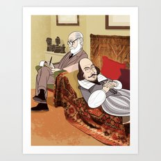 Freud analysing Shakespeare Art Print