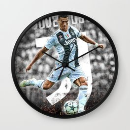 CR7- Juventus 2018 Wall Clock