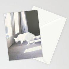 Le chat blanc Stationery Cards