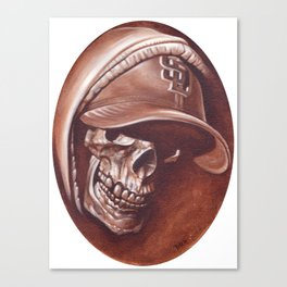 skull and cap Canvas Print