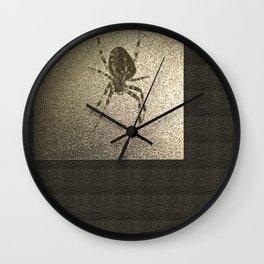 Golden cross spider Wall Clock