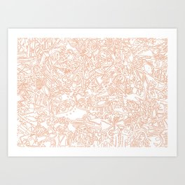 These Lines [We Draw] Art Print