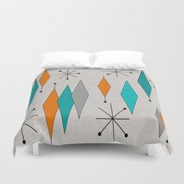 Mid-Century Modern Diamond Pattern Duvet Cover