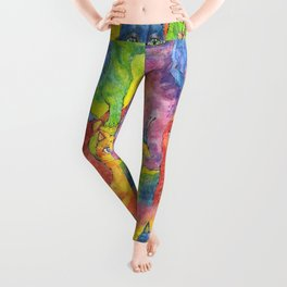 Rainbow cats Leggings