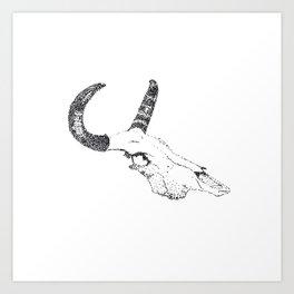 Bull Skul Art Print