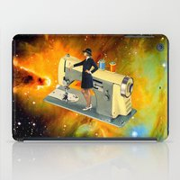 spaceship iPad Cases featuring Barbara's Spaceship by Eugenia Loli