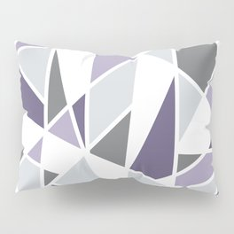 Geometric Pattern in purple and gray Pillow Sham