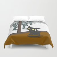 snow Duvet Covers featuring Snow by BATKEI