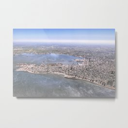 Montevideo City Aerial View Shot Metal Print