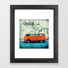 VW Van Framed Art Print
