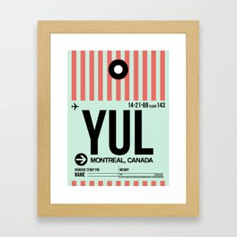 YUL Montreal Luggage Tag 2 Framed Art Print