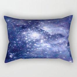 Cobalt Dreams, Universe Stars Space Nebula Rectangular Pillow