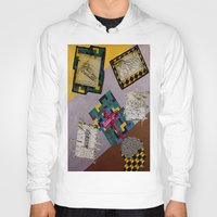 da vinci Hoodies featuring Tribute to Leonardo da Vinci by Art By Carob