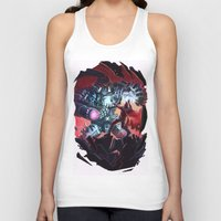 magneto Tank Tops featuring Magneto vs Megatron by Larrydraws