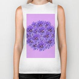 Purple Flower Ball Illustration - Lilac Background #decor #society6 #buyart Biker Tank