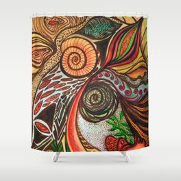 A Spiritual Garden Shower Curtain