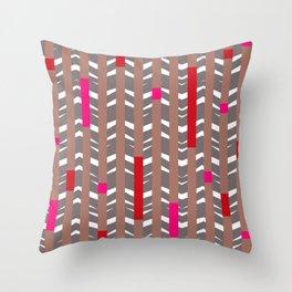 TRIBAL CHEVRON   mauve red Throw Pillow