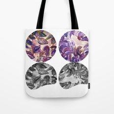 DRIP DRIP DRIP Purple Leaves Shadow Black and White Tote Bag