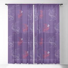 Myths & monsters: basilisk Sheer Curtain