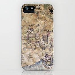 Hogwarts Map iPhone Case