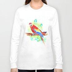 Watercolored Parrot Long Sleeve T-shirt
