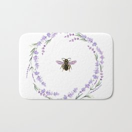 Lavender Bee Bath Mat
