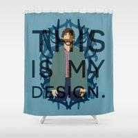 will graham Shower Curtains featuring Hannibal - Will Graham by MacGuffin Designs