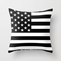 flag Throw Pillows featuring Flag by loveme