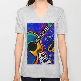 Carnival Jazz Painting Unisex V-Neck