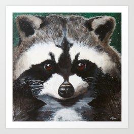 Raccoon - Charley - by LiliFlore Art Print
