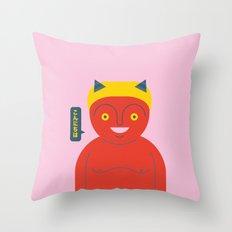 Happy Demon Throw Pillow