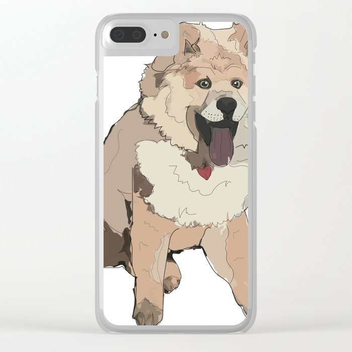 Fluffy Dog Clear iPhone Case