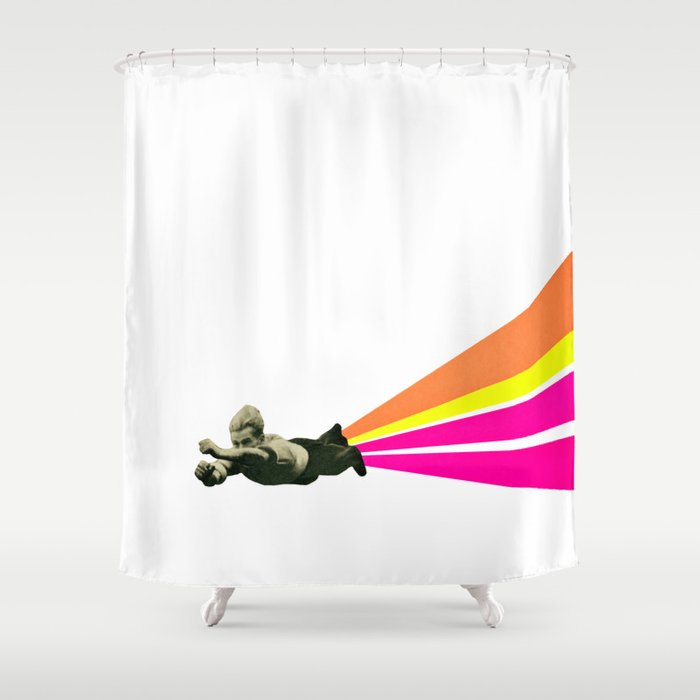 Superhero Shower Curtain By Cassiabeck