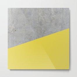 Concrete and Meadowlark Color Metal Print